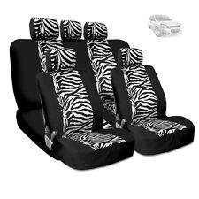 NEW PREMIUM GRADE BLACK MESH ANIMAL ZEBRA TIGER PRINT SEAT COVERS FOR CHEVROLET
