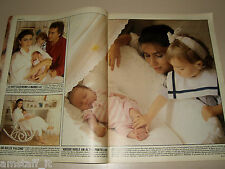 ROMINA POWER AL BANO FAMIGLIA clipping articolo fotografia foto photo 1987