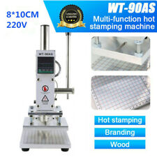 Hot Foil Stamping Machine 8X10CM Leather PVC PU Embossing Bronzing 220V WT-90AS