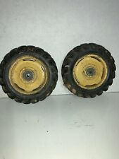 """Goodyear Toy Tractor Tires with Metal Rims - 3-1/2""""x 3/4"""""""