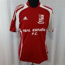 Real Espanol F.C. Futbol Club Jersey Adidas Large Red #10 ClimaLite