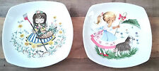 Vintage Pair 2 Midwinter Stylecraft Pin Dishes Children Bo Peep Nursery Rhymes