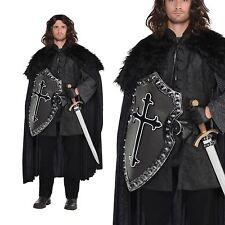 Game Mens Thrones Fur Cloak Nights Watch Fancy Dress Costume Cape Accessory