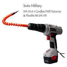 SWISS MILITARY SMH-14.4-I Cordless Hammer Drill 14.4V with Flexible Bit SM-FB