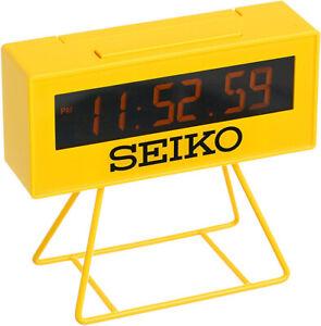 Seiko Japanese Quartz Digital Marathon Sport Snooze Date Style Clock QHL062YLH