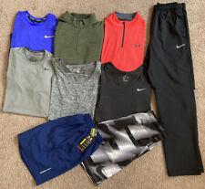 Lot of 9 Nike Under Armour Men's L Shirts Shorts Pants Tank Top Pro Combat