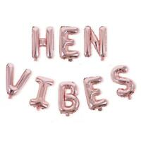 16 Inch Rose Gold HEN VIBES Foil Balloon Banner, Hen Party, Bachelorette Party