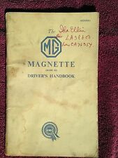 MG Magnette Mark III Driver's Handbook - Original - Used Condition
