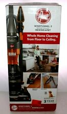 Hoover WindTunnel 2 Whole House Rewind Bagless Pet Upright Vacuum Cleaner Black