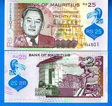 Mauritius P-New 25 Rupees Year 2013 Uncirculated Polymer FREE SHIPPING