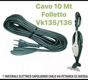 Cavo Folletto Alimentazione 10mt per Vorwerk Folletto VK135 VK136 Compatibile