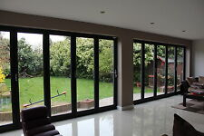 Grey, Black or White Aluminium Bi fold Doors inc Glass 3 panels 3000mm x 2100mm