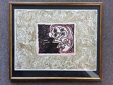 Pierre Alechinsky Double Vue Linocut And Lithograph 1970 Cobra Art