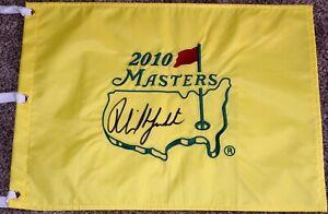 Phil Mickelson Signed 2010 Masters Flag PSA LOA - 3X Champion - PGA Championship