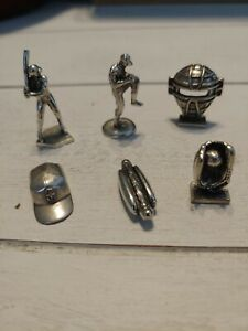 Monopoly Geocache USAOpoly MLB Baseball Game 6 Pewter Pieces Tokens 2006