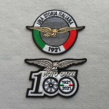 PATCH MOTO GUZZI 100 ANNIVERSARIO ARG+STORIA ITALIANA PZ 2 RICAMATA-REPLICA-440