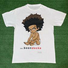 Y2K Adult Swim The Boondocks Huey Freeman Biggie Smalls White Graphic Tshirt - M