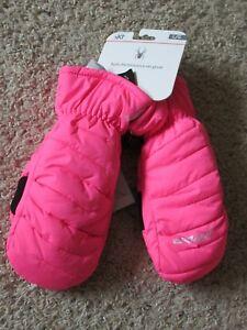 Spyder Girls Insulated Winter Ski Mittens Gloves Pink Large