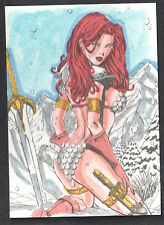 RED SONJA TRADING CARDS (BREYGENT/2012) LINE ART CARD #RS-2 unknown artist