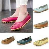 Women's Casual Slip On Leather shoes Moccasins Comfort Driving Flat Loafers