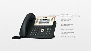 Yealink SIP T27G VOIP IP POE 6 Line Gigabit Display Speaker Telephone W/ STD #A