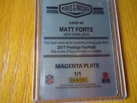 2017 PANINI PLATES & PATCHES PRINTING PLATE MATT FORTE NEW YORK JETS 1/1
