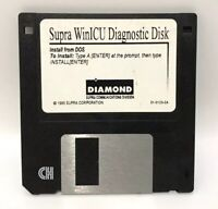 Vtg Diamond Multimedia Supra WinICU Diagnostic Disk DOS 95 Floppy Atari Software