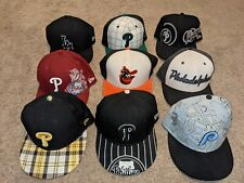 LOT of 9 - New Era 59Fifty Philadelphia Phillies Fitted Hat 7 3/8 Multiple Style