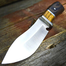 "10"" Full Tang Wood Fixed Blade Knife Hunting Skinning Survival Army Bowie"