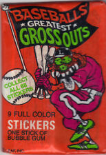BASEBALL'S GREATEST GROSSOUTS 11 UNOPENED PACKS   FREE SHIPPING