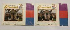 Graceland Ticket Stubs (2) Nye 1997 Elvis Presley