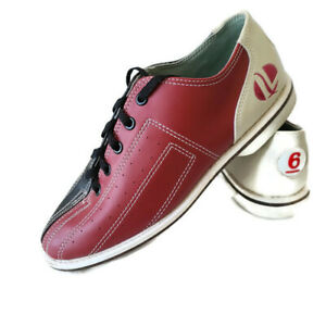 Linds Bowling Shoe World Impex Mens 6 Women 7 Leather Red Black Tan Rental