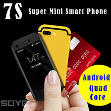 """2.5""""BLACK 3G World's Smallest Mini Soyes7S Android Phone Dual SIM Bluetooth WIFI"""