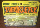 VINTAGE LUHR JENSEN TWINKLE FLY RAINBOW PEARLESCENT -YELLOW FISHING LURE