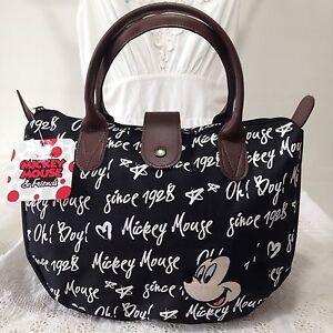 AUTHENTIC DISNEY MICKEY MOUSE Handbag Clutch Tote Shopper Bag W 30 x H 22 cm.