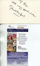 """MICHAEL CRAWFORD """"PHANTOM OF THE OPERA"""" SIGNED CARD AUTOGRAPH JSA AUTHENTICATED"""