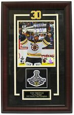 Tim Thomas Boston Bruins Signed & Framed Stanley Cup 8x10