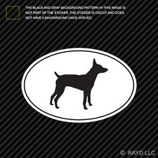 Rat Terrier Euro Oval Sticker Die Cut Decal Self Adhesive Vinyl dog canine pet
