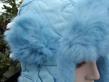 Los niños gorra tschapka mcburn conejos fell talla 52 azul pálido invierno gorro forradas