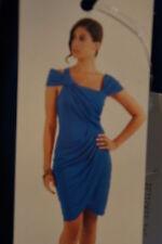 """Cenia New York Dress Sz 12 Blue """"Jennifer Fit"""" Flattering Rayon Cocktail Dress"""