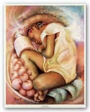 The Sleeping Angel Essud Fungcap African American Art Print 8x10