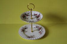 zauberhafte zweistöckige Etagere Teller Royal Albert Lavender Rose 021616