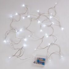 LED Fairy Lights 30Lights 3m Clear Cord Free 3 x AA batteries 30 Hour Burn