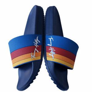 Tommy Hilfiger Men's Roomie Slide Sandals Blue Orange size 10