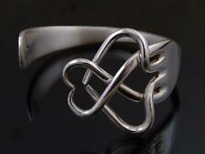Silver Plated Celtic Fork Bracelet Bangle Unusual Gift Vintage Cutlery Jewellery