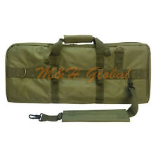 "Tactical MOLLE 28"" Padded Double Compartment Rifle Case Gun Bag - OD Green"