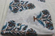 Sanganeri Hand Block Multi Color Soft Cotton 5 Yard Fabric Garment OLHYFPF13