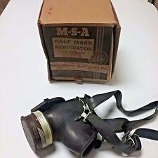 WW II Navy Half Mask Chemical Respirator W/ Cartridges- New - USA