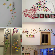 12pcs 3D Butterfly Magnetic Sticker Fridge Room Show Window Wall Home Decoration