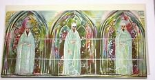 Angels Aucton Vtg Card Hallmark Box Of 15 Slim Jims Mcm 3 King Stained Glass